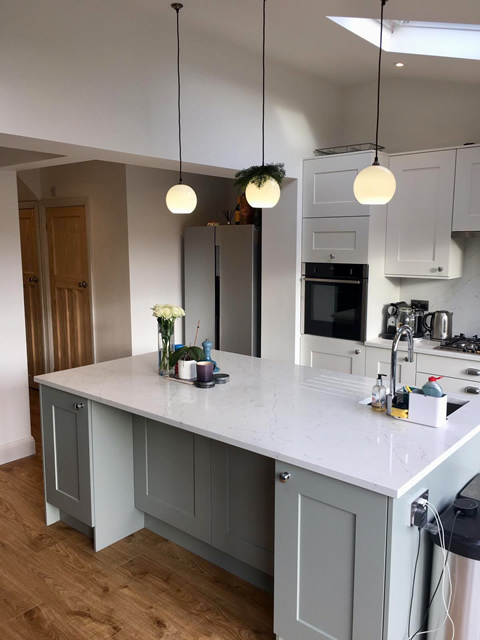 Open Plan Kitchen Diner Extension, Prestwich, Greater Manchester. SB Builders