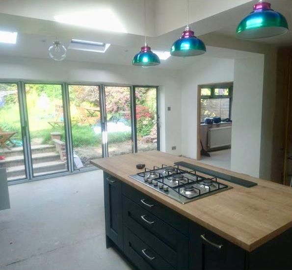 Open Plan Kitchen Diner Extension, Worsley, Greater Manchester. SB Builders